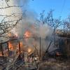 В Курской области горят дачи и хозпостройки